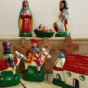 Ecuadorian Christmas Folk Art Putz Nativity Cresch